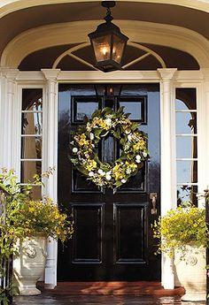 front door wreaths for summerFreshen Up the Front Door  Guthmann Construction