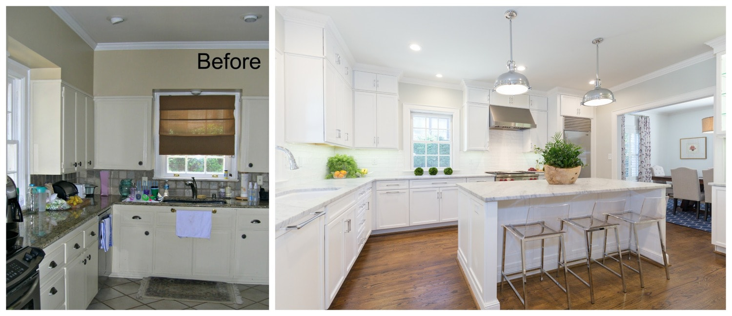 Before & After: Myers Park Kitchen   Guthmann Construction