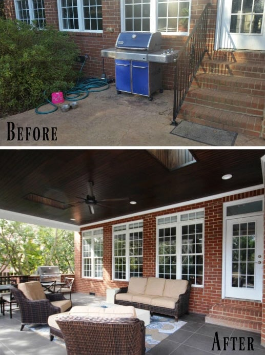 Before Amp After Covered Porch Addition Guthmann Construction