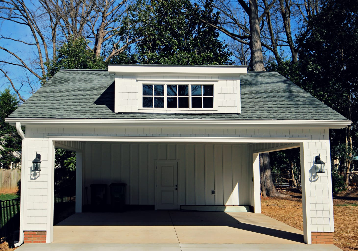 Custom carport for historic myers park home guthmann for Custom built victorian homes