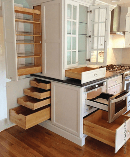 Hidden Storage In The Kitchen Guthmann Construction