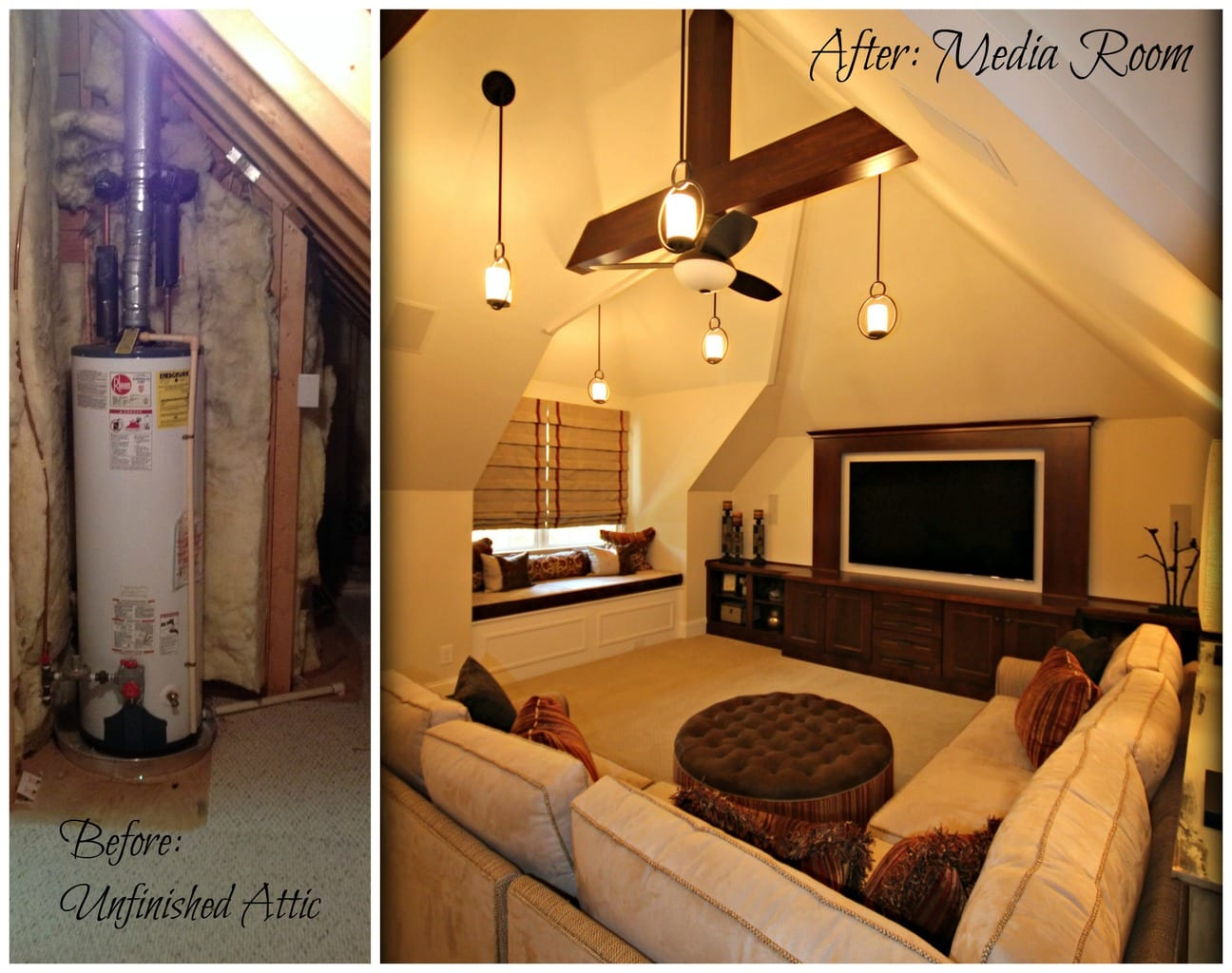 Before After Attic Renovation Guthmann Construction